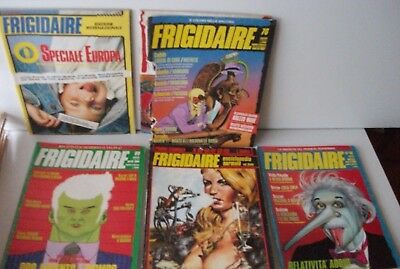 5x FRIGIDAIRE 80s 59-63 76 87 88 89  Italian Art Illustrated Comic Mags Ranxerox