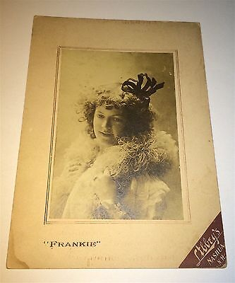 "Rare Antique Victorian American Actress ""Frankie"" Nashua NH C.1900 Cabinet Photo"