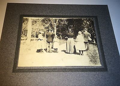 Rare Antique C.1900 American Group Backs Turned! Outdoor Oddity Cabinet Photo!