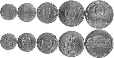 Korea 1, 5, 10, 50 Jeon, 1 Won 1959-1987
