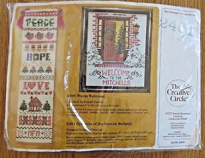 Symbols Of The Season Bell Pull Creative Circle Crewel Kit 2401 Molly Fleming
