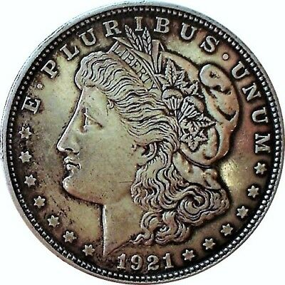 1921-D Morgan Silver Dollar--High Grade Nicely Toned--Great Gift--Ships Free