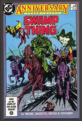 Swamp Thing #49,50 (1986)~1st Justice League Dark~Alan Moore~FN and VF/NM