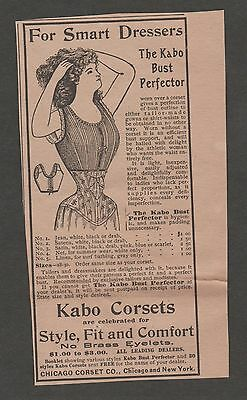 Vintage Ad From The Gentlewoman March 1900 The Kabo Bust Perfector Corset