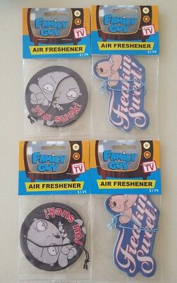 ×4 Family Guy 2004 collectible Air Fresheners