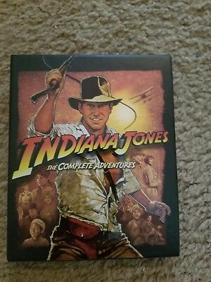 Indiana Jones the Complete Adventures on Blu Ray; All 4 movies