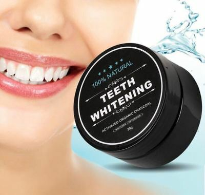 100%Natural Teeth Whitening & Stain Remover Organic Activated Charcoal Powder UK