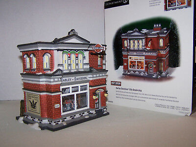 Department 56 Christmas In the City Harley Davidson City Dealership