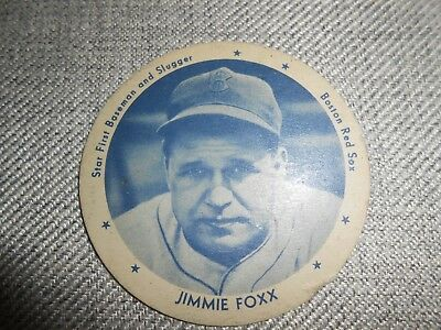 Vintage 1930's Dixie Ice Cream Cup Lid - Jimmie Foxx - Baseball Player