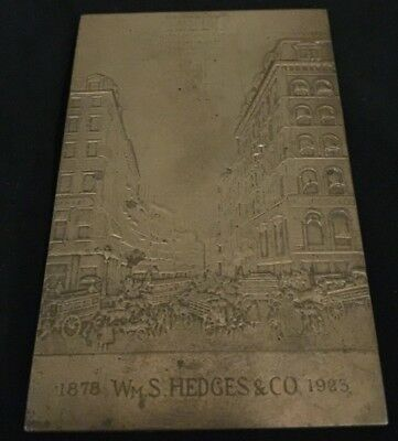 Bronze Plate 1878 Wm. S Hedges & Co. 1923-Architect Of American Broadcasting