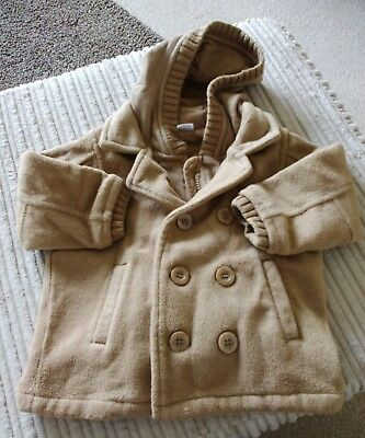 Baby Boys Cream Hooded Coat ** Age 9/12 months ** Next ( t )
