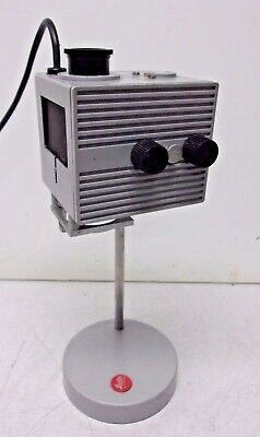 Leitz Wetzlar Microscope 50w Focusing Lamp Housing With Stand Base, Excellent