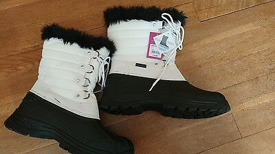 Mountain Warehouse Waterproof wellie Boots size 7 euro 40 white black New rrp£50