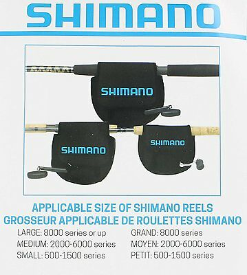 Shimano ANSC850A Neoprene Spin Reel Cover Large Black