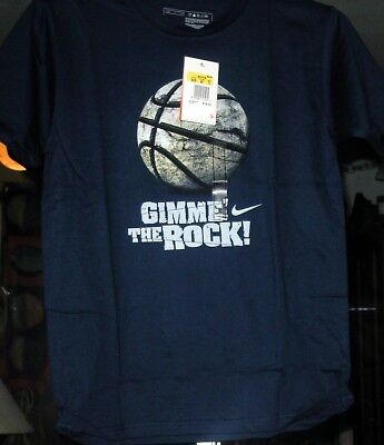 NIKE GIMME the ROCK VINTAGE NAVY BOYS COLLECTIBLE T-SHIRTS NEW W/TAGS MEDIUM