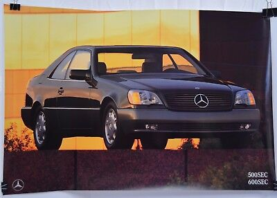 Mercedes Benz Dealer Poster of the 500 SEC / 600 SEC Car Parked