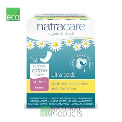 Natracare Organic Cotton Ultra Pads 12 Super Plus Flow