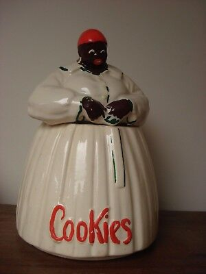 Real McCoy! Mammy Aunt Jemima Cookie Jar Black Americana 1940's COLLECTIBLE
