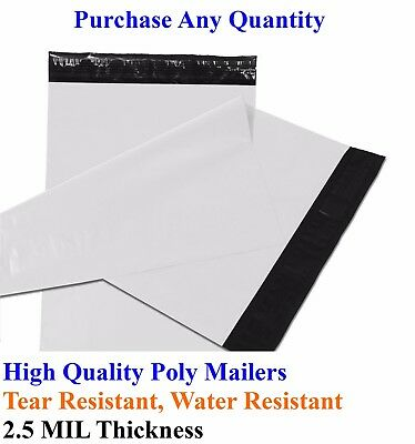 """25-5000 7.5"""" x 10.5"""" Poly Mailers Envelopes Plastic Shipping Bags Mailing 7x10"""