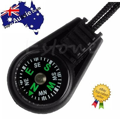 Mini Pocket Portable Outdoor Sport Dial Compass Pointer + Lanyard Strap