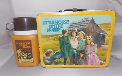 Vintage 1978 Metal Little House on the Prairie Lunch Box with Thermos