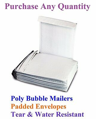 10-2000 #000 4x8 Mailing Small Poly Bubble Mailers Padded Envelopes Bags 4 x 7