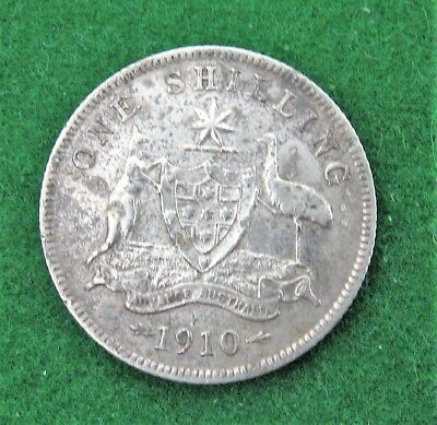 1910  GEO  V  Shilling   (corrosion to surface)