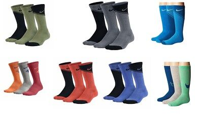 New Nike 3-pk. Graphic Crew Socks- Boys [Choose Color & Size]