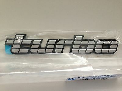 Holden Vl Calais Commodore Sl Hdt Brock Turbo Bootlid Badge New Genuine Silver