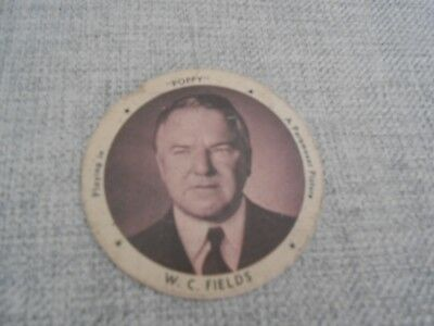 "Vintage 1930's Dixie Ice Cream Cup Lid - W.c. Fields - ""poppy"""