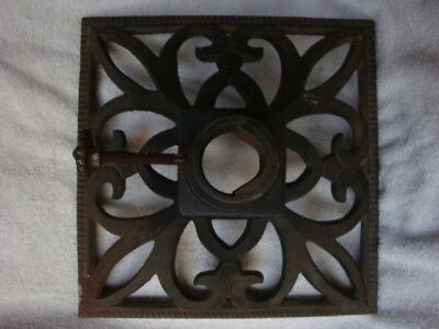 Vintage Cast Iron Christmas Tree Stand Fancy Ornate Beautiful Barn Pick Old 40s