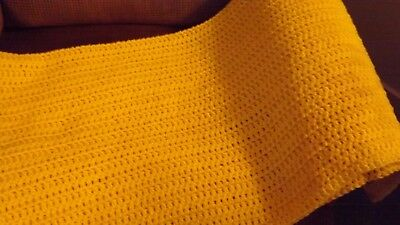 Bright Yellow Crochet Baby/lap Blanket