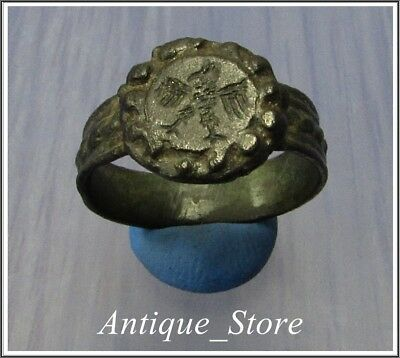 **AQUILA** EAGLE **Ancient Bronze Legionary Roman Ring **RARE**