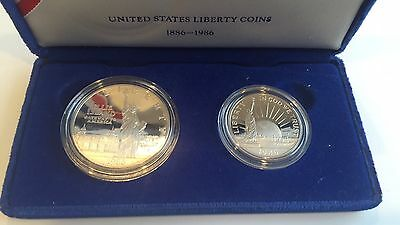 United States Liberty Coins 1886 - 1986 - 2 Coin Box