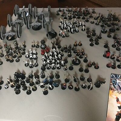 Star Wars Miniatures Game Lot, 200+ figures, 25+ rare, includes extras
