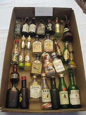 HUGE Lot of 26 Vintage Miniature Glass Liquor Bottles Whiskey and Others! #6