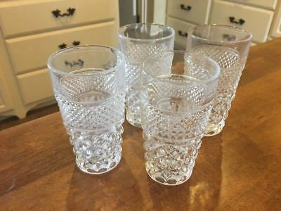 LOT OF 4 - Vintage Wexford Anchor Hocking 5.5 Water / Tea Tumbler Glasses EUC