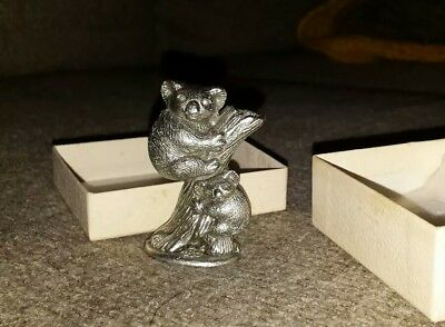 OZ PEWTER KOALA BEAR Handcrafted  Sculpture