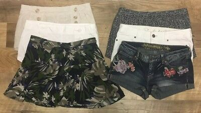 Lot of 6 Express Shorts and Skirt Sizes 2 4 6