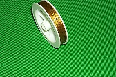 Tiger Tail Beading Wire (0.45mm) GOLD - 100 Metre Stock In Australia Get it FAST
