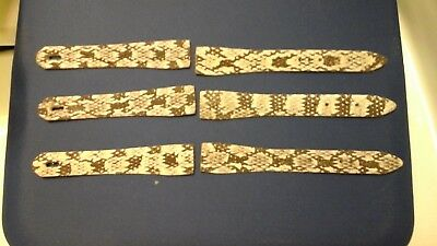 Swamp Rattle Snake Watch Bands (3 sets)