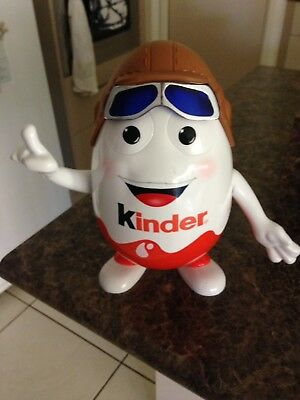 Collectible Large 9.5inch Kinder Surprise Aviator Pilot Egg Man