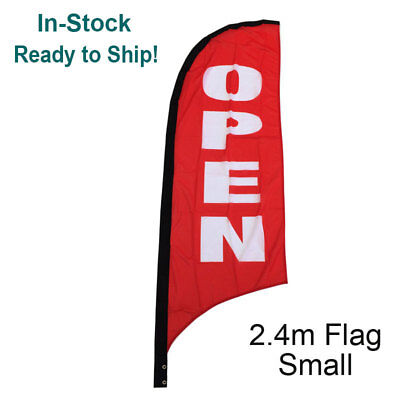 2.4m OPEN Replacement Flag/ Outdoor Advertising Banner(Excl. Pole & Base)