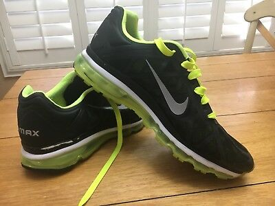 Men's 2011 Nike Air Max Lime Green/Black Size 15 (429889-007)