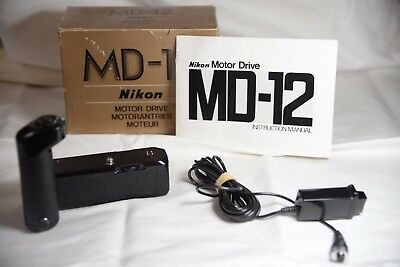 Nikon MD-12 Motor Drive (in original box) with remote release
