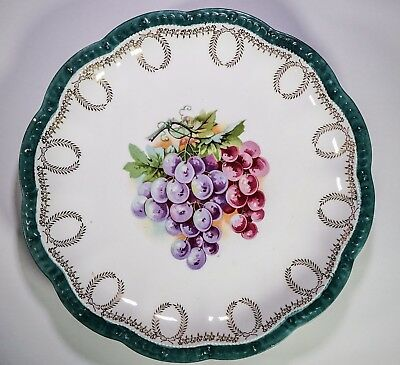 Empire China 10.5 inch plate  red and purple grape design