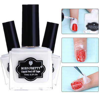 Nail Peel off Liquid Tape Stamping Latex Base Coat Polish Nail Art BORN PRETTY