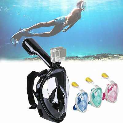 Hot PRO Swimming Full Face Mask Surface Diving Snorkel Scuba for GoPro XIAOYI