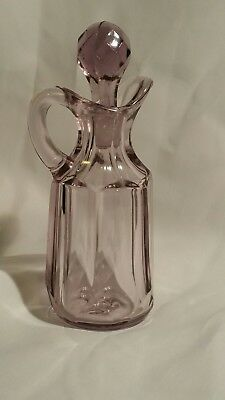 Vintage Antique Sun Purple Sunglass Cruet With Stopper