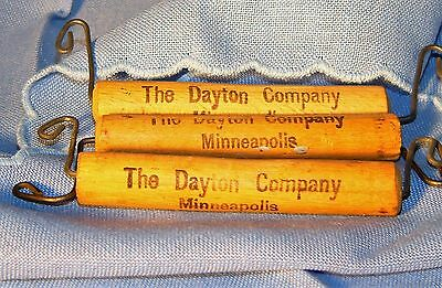 Antique Package Handle Lot Advertising Dayton Co Mpls Wood Wire Twine Bundle